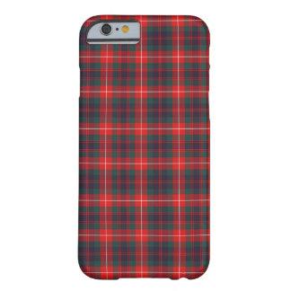 Fraser del tartán moderno rojo y azul del clan de funda barely there iPhone 6