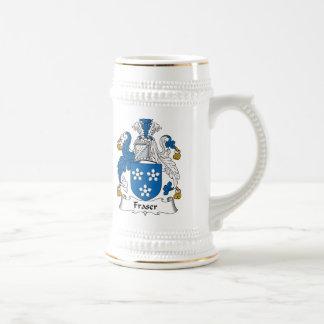 Fraser Family Crest Beer Stein