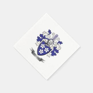 Fraser Family Crest Coat of Arms Paper Napkin