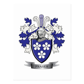 Fraser Family Crest Coat of Arms Postcard