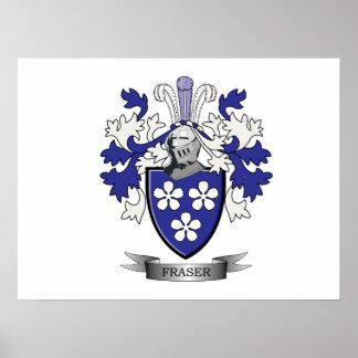 Fraser Family Crest Coat of Arms Poster