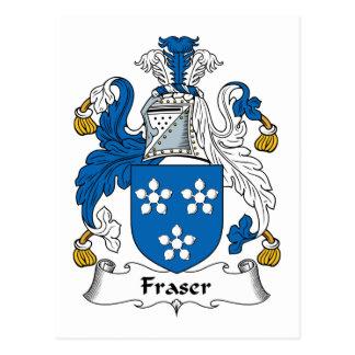Fraser Family Crest Postcard