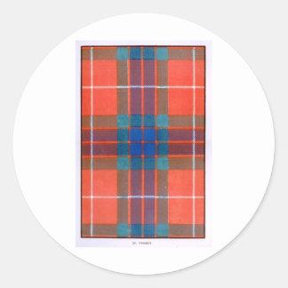Fraser Family - TARTAN Classic Round Sticker
