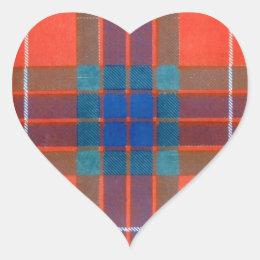 Fraser Family - TARTAN Heart Sticker