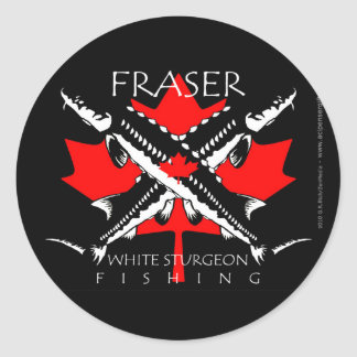 Fraser-Flag-double black Classic Round Sticker