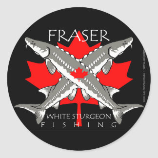 Fraser-Flag-double gray Classic Round Sticker