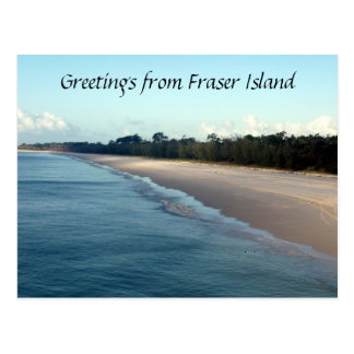 fraser island greetings postcard