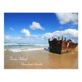 Fraser Island Shipwreck - Postcard