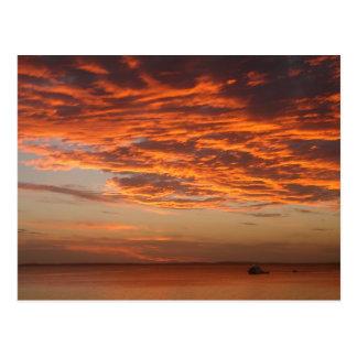 Fraser Island Sunset Postcard
