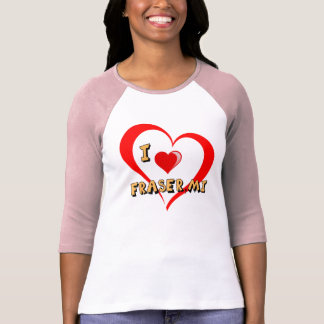 "Fraser Michigan ""corazón doble "" Playera"