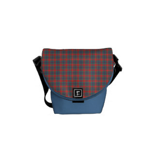 Fraser of Lovat Ancient Tartan Light Blue Plaid Courier Bag