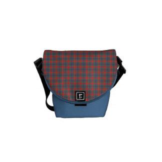 Fraser of Lovat Ancient Tartan Light Blue Plaid Courier Bag
