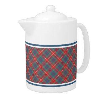 Fraser of Lovat Ancient Tartan Light Blue Plaid Teapot