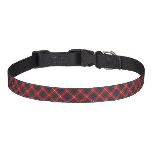 Fraser of Lovat Bright Red and Navy Blue Tartan Pet Collar