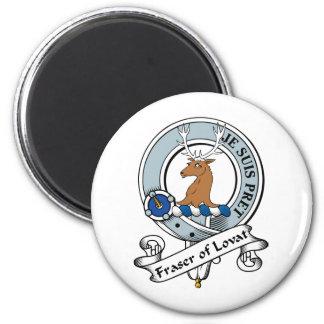 Fraser of Lovat Clan Badge 2 Inch Round Magnet