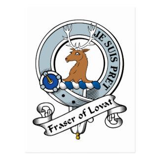 Fraser of Lovat Clan Badge Postcard