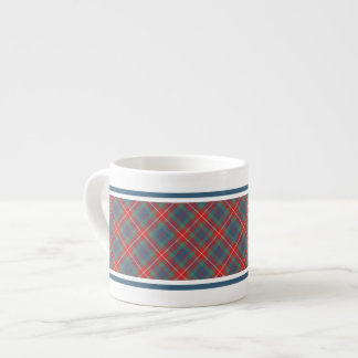 Fraser of Lovat Clan Light Blue Ancient Tartan Espresso Cup