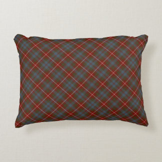 Fraser of Lovat Dark Red Scottish Tartan Decorative Pillow