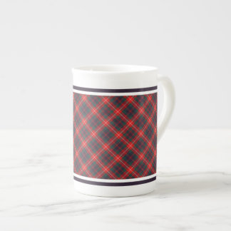 Fraser of Lovat Family Modern Tartan Red and Blue Tea Cup