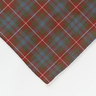 Fraser of Lovat Red and Blue Reproduction Tartan Fleece Blanket