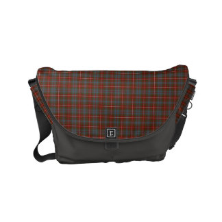Fraser of Lovat Reproduction Tartan Red Plaid Small Messenger Bag