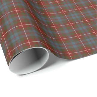 Fraser of Lovat Weathered Clan Tartan Wrapping Paper