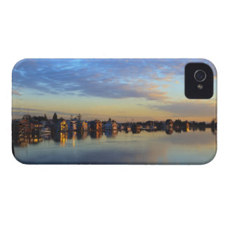 Fraser River, house boats at sunset Case-Mate iPhone 4 Case
