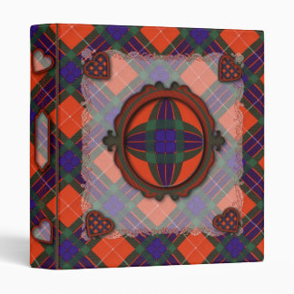 Fraser Scottish clan tartan Binder