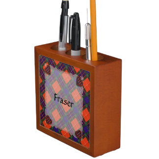 Fraser Scottish clan tartan - Plaid Pencil/Pen Holder