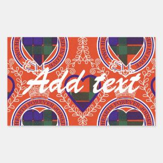 Fraser Scottish tartan Rectangular Sticker