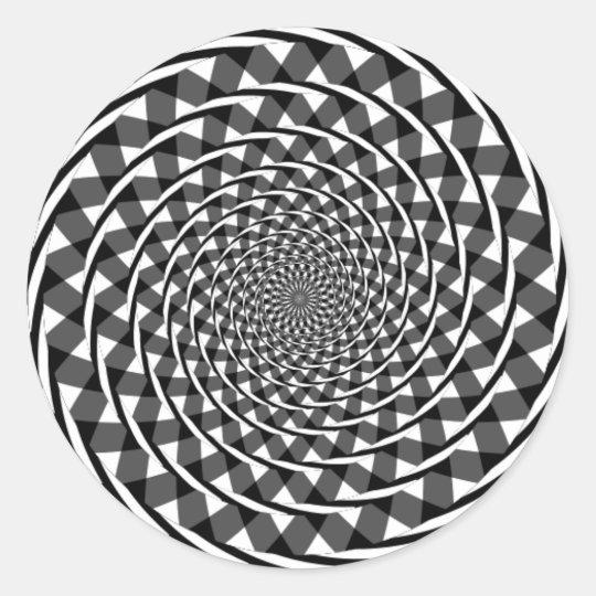 Fraser spiral illusion classic round sticker