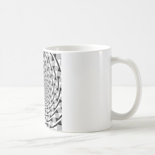 Fraser spiral illusion classic white coffee mug