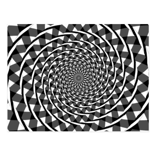 Fraser spiral illusion postcard