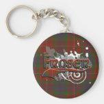 Fraser Tartan Grunge Keychains
