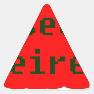 Frases master 12.02. triangle sticker