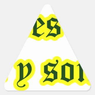 Frases master 12.03 triangle sticker