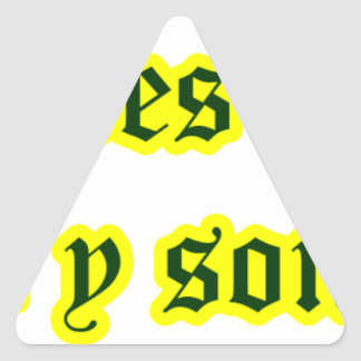Frases master 12.03 triangle sticker