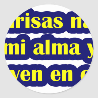 Frases master 12.06. classic round sticker