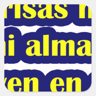 Frases master 12.06. square sticker