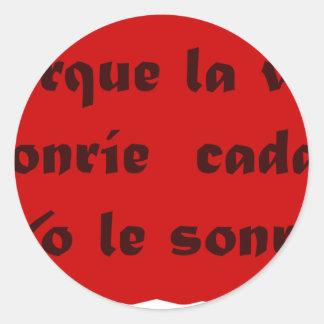 Frases Master 12.10 Classic Round Sticker