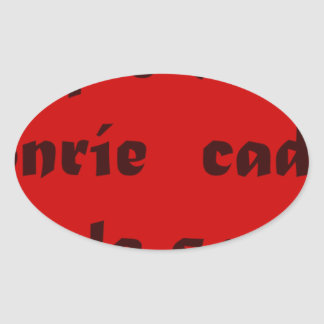 Frases Master 12.10 Oval Sticker