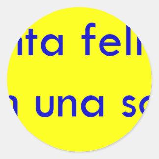 Frases master 13.11 classic round sticker