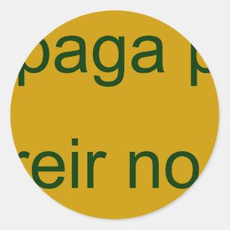 frases master 13.12 round sticker