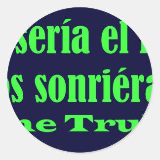 Frases master 14.03 round sticker