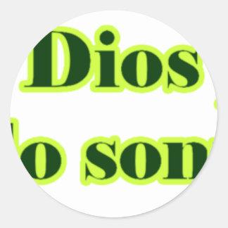 Frases master 14.06 classic round sticker