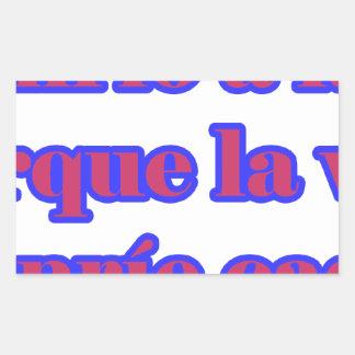 Frases master 14.07 rectangular sticker