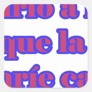 Frases master 14.07 square sticker