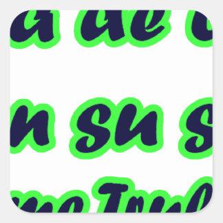 Frases master 14.09 square sticker