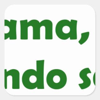 frases para legado 11. square sticker