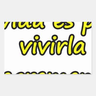 Frases para legado  16. rectangular stickers